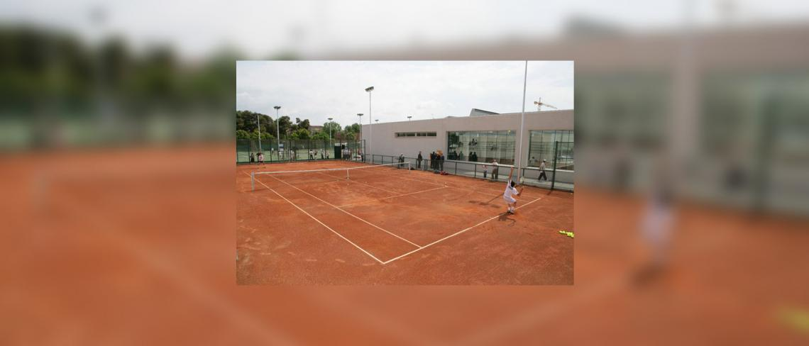 Another view of track central - Specialized Centre for technicization tennis Sporting Cornellá of Llobregat, Barcelona (Catalonia)
