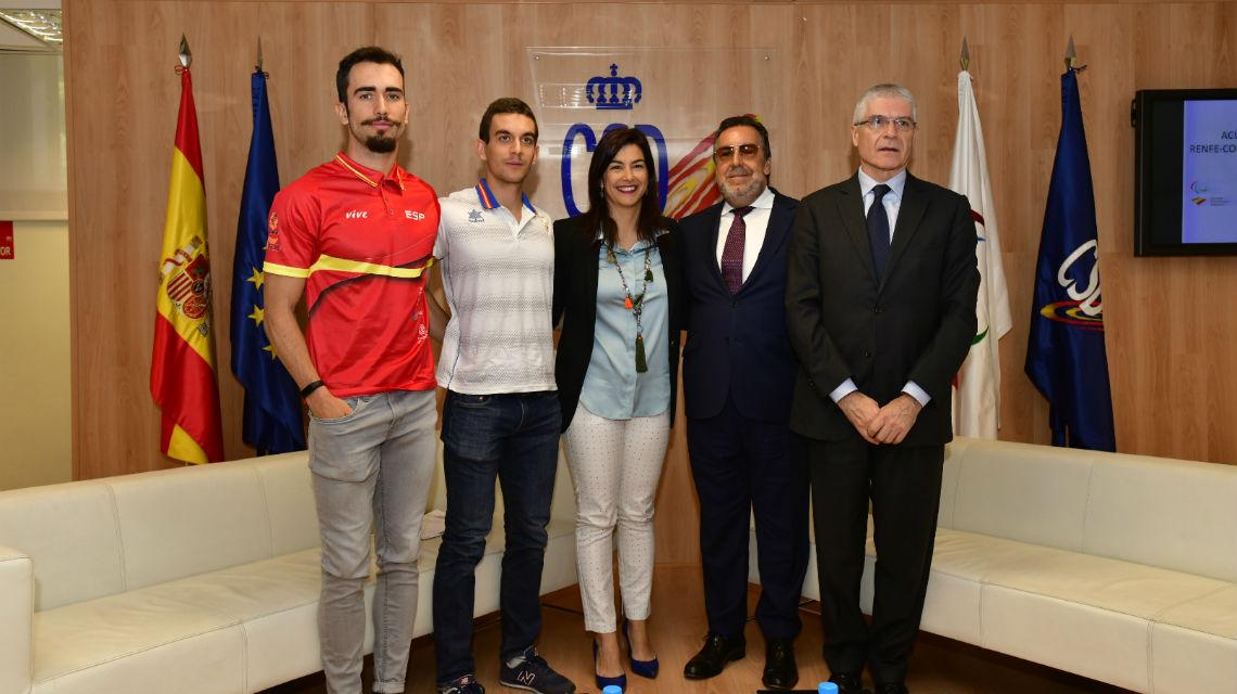 Sponsorship agreement between Renfe and Paralympics