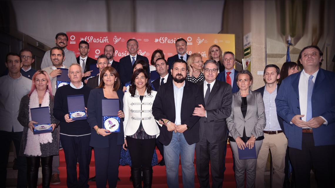 The CSD entregalos recognitions of the European Week of sport 2019